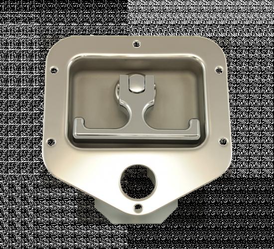 WHCSSLPA2: Stainless Steel 2-Point Rivet-On Lock Pocket (Front)